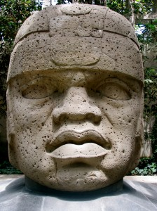 Colossal Olmec Head