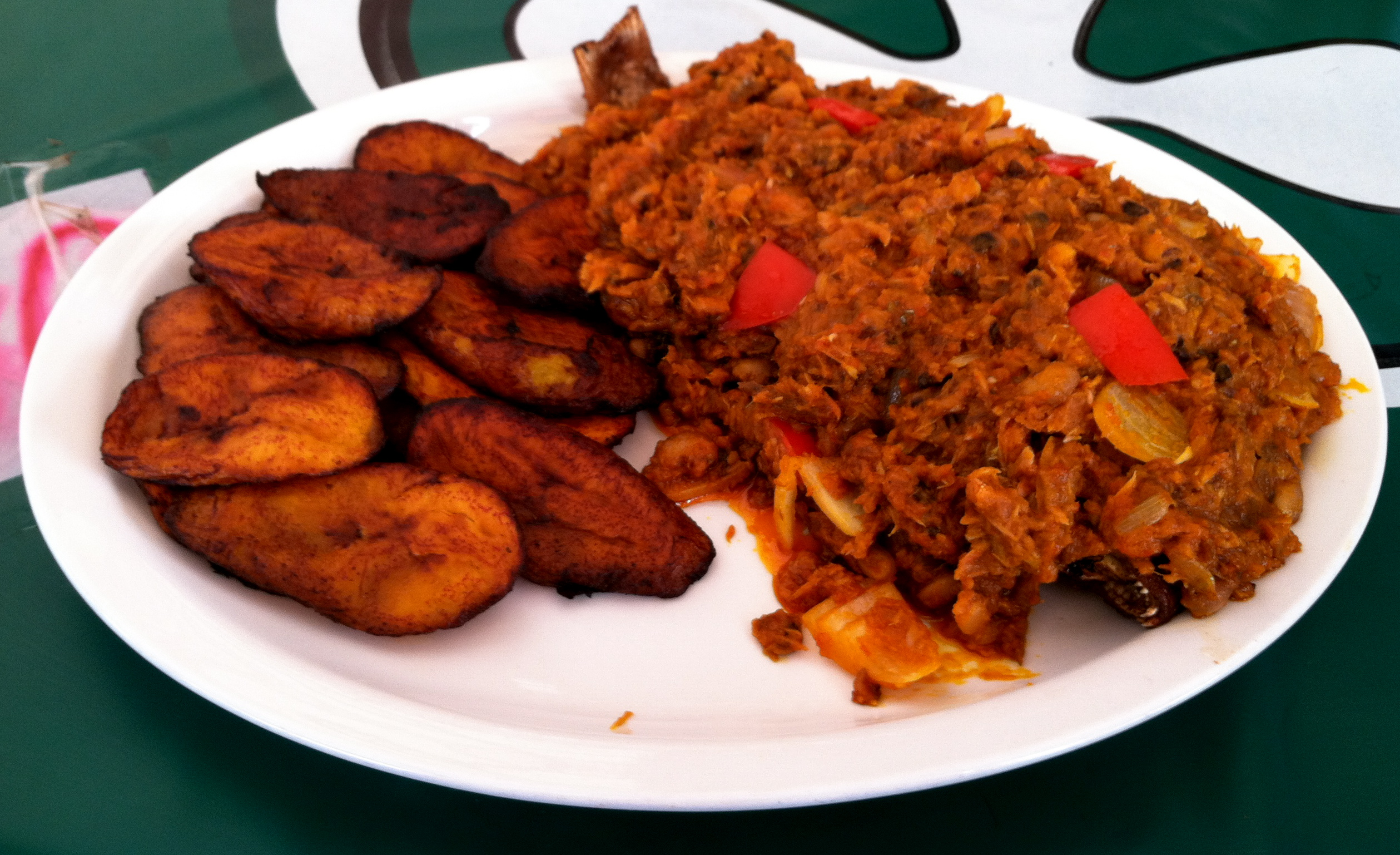 red Red ghanaian beans and plantain -- African Beans Recipes